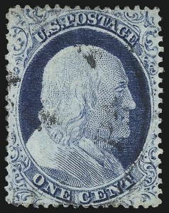 Sale Number 1061, Lot Number 3400, 1c 1857-60 Issue by Plate (Scott 18-24)1c Blue, Ty. IV (23), 1c Blue, Ty. IV (23)