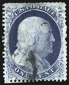 Sale Number 1061, Lot Number 3401, 1c 1857-60 Issue by Plate (Scott 18-24)1c Blue, Ty. IV (23), 1c Blue, Ty. IV (23)