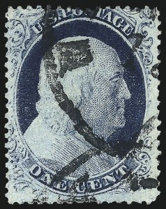 Sale Number 1061, Lot Number 3403, 1c 1857-60 Issue by Plate (Scott 18-24)1c Blue, Ty. IV, Triple Transfer, One Inverted (23 var), 1c Blue, Ty. IV, Triple Transfer, One Inverted (23 var)