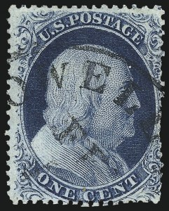 Sale Number 1061, Lot Number 3405, 1c 1857-60 Issue by Plate (Scott 18-24)1c Blue, Ty. III, Position 99R2 (21), 1c Blue, Ty. III, Position 99R2 (21)