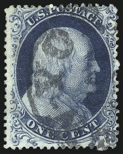 Sale Number 1061, Lot Number 3406, 1c 1857-60 Issue by Plate (Scott 18-24)1c Blue, Ty. Ia (19), 1c Blue, Ty. Ia (19)