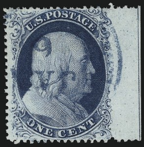 Sale Number 1061, Lot Number 3409, 1c 1857-60 Issue by Plate (Scott 18-24)1c Blue, Ty. III (21), 1c Blue, Ty. III (21)