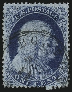 Sale Number 1061, Lot Number 3411, 1c 1857-60 Issue by Plate (Scott 18-24)1c Blue, Ty. III (21), 1c Blue, Ty. III (21)