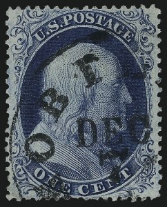 Sale Number 1061, Lot Number 3412, 1c 1857-60 Issue by Plate (Scott 18-24)1c Blue, Ty. IIIa (22), 1c Blue, Ty. IIIa (22)