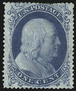 Sale Number 1061, Lot Number 3413, 1c 1857-60 Issue by Plate (Scott 18-24)1c Blue, Ty. IIIa (22), 1c Blue, Ty. IIIa (22)