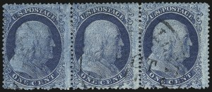 Sale Number 1061, Lot Number 3416, 1c 1857-60 Issue by Plate (Scott 18-24)1c Blue, Ty. I (18), 1c Blue, Ty. I (18)