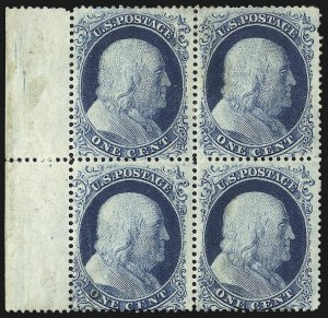 Sale Number 1061, Lot Number 3417, 1c 1857-60 Issue by Plate (Scott 18-24)1c Blue, Ty. II-II/I-I (20-20/18-18), 1c Blue, Ty. II-II/I-I (20-20/18-18)