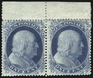 Sale Number 1061, Lot Number 3420, 1c 1857-60 Issue by Plate (Scott 18-24)1c Blue, Ty. II (20), 1c Blue, Ty. II (20)