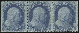 Sale Number 1061, Lot Number 3421, 1c 1857-60 Issue by Plate (Scott 18-24)1c Blue, Ty. II (20), 1c Blue, Ty. II (20)