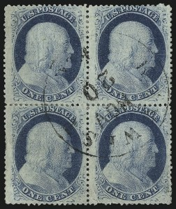 Sale Number 1061, Lot Number 3423, 1c 1857-60 Issue by Plate (Scott 18-24)1c Blue, Ty. V (24), 1c Blue, Ty. V (24)