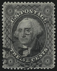 Sale Number 1061, Lot Number 3449, 3c-90c 1857-60 Issue and 1875 Reprint (Scott 25-40)12c Black, Plate 1 (36), 12c Black, Plate 1 (36)