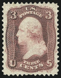 Sale Number 1061, Lot Number 3456, 1861-66 Issue (Scott 56-78)3c Brown Rose, First Design (56), 3c Brown Rose, First Design (56)