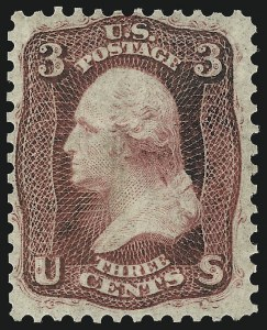 Sale Number 1061, Lot Number 3457, 1861-66 Issue (Scott 56-78)3c Brown Rose, First Design (56), 3c Brown Rose, First Design (56)