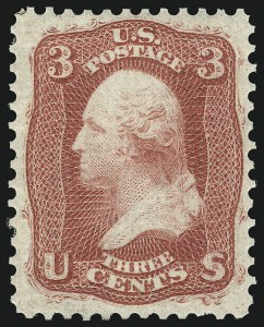 Sale Number 1061, Lot Number 3460, 1861-66 Issue (Scott 56-78)3c Deep Pink, First Design (56 var), 3c Deep Pink, First Design (56 var)