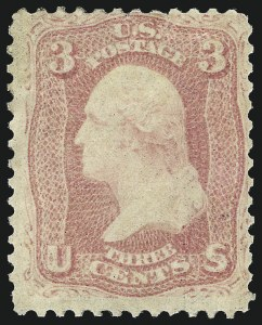Sale Number 1061, Lot Number 3465, 1861-66 Issue (Scott 56-78)3c Pink (64), 3c Pink (64)