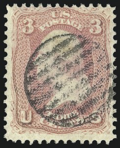 Sale Number 1061, Lot Number 3466, 1861-66 Issue (Scott 56-78)3c Pink (64), 3c Pink (64)