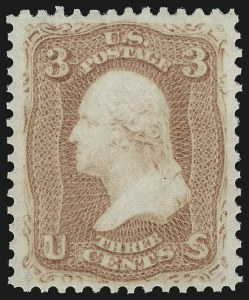 Sale Number 1061, Lot Number 3467, 1861-66 Issue (Scott 56-78)3c Rose (65). Mint N.H, 3c Rose (65). Mint N.H