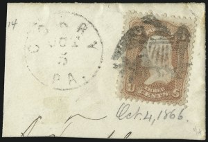 Sale Number 1061, Lot Number 3468, 1861-66 Issue (Scott 56-78)3c Rose (65), 3c Rose (65)