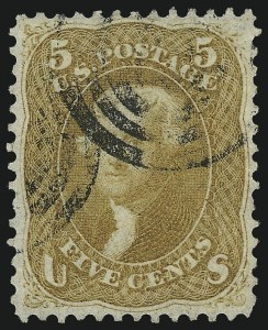 Sale Number 1061, Lot Number 3472, 1861-66 Issue (Scott 56-78)5c Buff (67), 5c Buff (67)