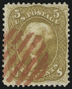 Sale Number 1061, Lot Number 3474, 1861-66 Issue (Scott 56-78)5c Brown Yellow (67a), 5c Brown Yellow (67a)