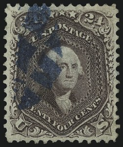 Sale Number 1061, Lot Number 3477, 1861-66 Issue (Scott 56-78)24c Red Lilac (70), 24c Red Lilac (70)
