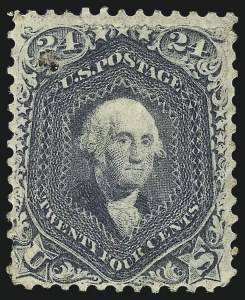 Sale Number 1061, Lot Number 3480, 1861-66 Issue (Scott 56-78)24c Steel Blue (70b), 24c Steel Blue (70b)