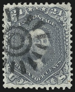 Sale Number 1061, Lot Number 3481, 1861-66 Issue (Scott 56-78)24c Steel Blue (70b), 24c Steel Blue (70b)
