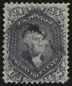 Sale Number 1061, Lot Number 3482, 1861-66 Issue (Scott 56-78)24c Violet, Thin Paper (70c), 24c Violet, Thin Paper (70c)