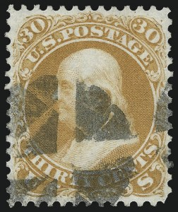 Sale Number 1061, Lot Number 3484, 1861-66 Issue (Scott 56-78)30c Orange (71), 30c Orange (71)