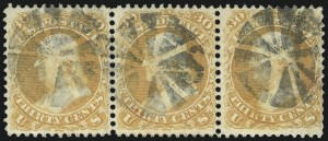 Sale Number 1061, Lot Number 3485, 1861-66 Issue (Scott 56-78)30c Orange (71), 30c Orange (71)