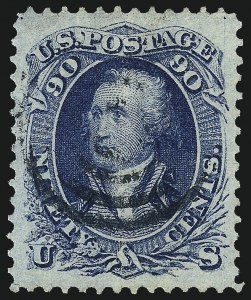 Sale Number 1061, Lot Number 3486, 1861-66 Issue (Scott 56-78)90c Blue (72), 90c Blue (72)