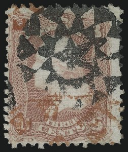 Sale Number 1061, Lot Number 3495, 1867-68 Grilled Issue (Scott 83-100)3c Rose, D. Grill (85), 3c Rose, D. Grill (85)