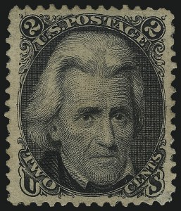 Sale Number 1061, Lot Number 3522, 1875 Re-Issue of 1861-66 Issue (Scott 102-106)2c Black, Re-Issue (103), 2c Black, Re-Issue (103)