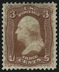 Sale Number 1061, Lot Number 3523, 1875 Re-Issue of 1861-66 Issue (Scott 102-106)3c Brown Red, Re-Issue (104), 3c Brown Red, Re-Issue (104)