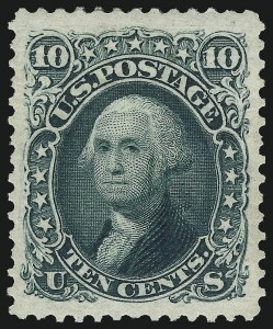 Sale Number 1061, Lot Number 3525, 1875 Re-Issue of 1861-66 Issue (Scott 102-106)10c Green, Re-Issue (106), 10c Green, Re-Issue (106)