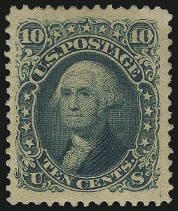 Sale Number 1061, Lot Number 3526, 1875 Re-Issue of 1861-66 Issue (Scott 102-106)10c Green, Re-Issue (106), 10c Green, Re-Issue (106)