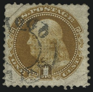 Sale Number 1061, Lot Number 3530, 1869 Pictorial Issue (Scott 112-122a)1c Buff (112), 1c Buff (112)