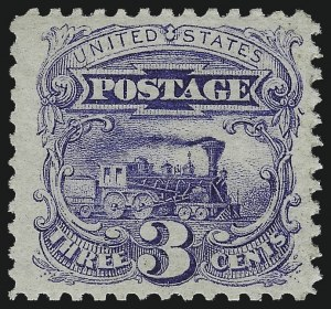 Sale Number 1061, Lot Number 3532, 1869 Pictorial Issue (Scott 112-122a)3c Ultramarine (114), 3c Ultramarine (114)