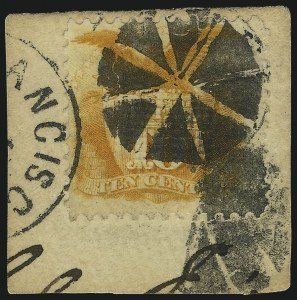 Sale Number 1061, Lot Number 3536, 1869 Pictorial Issue (Scott 112-122a)10c Yellow (116), 10c Yellow (116)