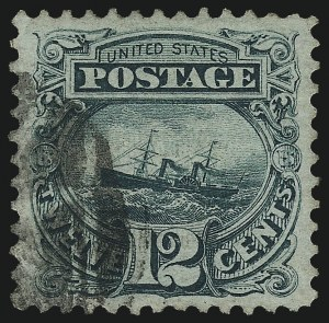 Sale Number 1061, Lot Number 3538, 1869 Pictorial Issue (Scott 112-122a)12c Green (117), 12c Green (117)