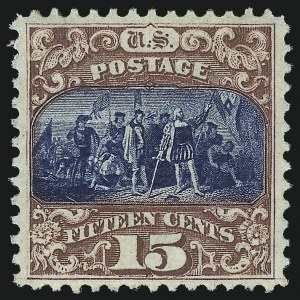 Sale Number 1061, Lot Number 3542, 1869 Pictorial Issue (Scott 112-122a)15c Brown & Blue, Ty. II (119), 15c Brown & Blue, Ty. II (119)