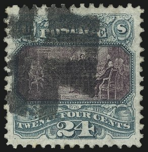 Sale Number 1061, Lot Number 3547, 1869 Pictorial Issue (Scott 112-122a)24c Green & Violet (120), 24c Green & Violet (120)