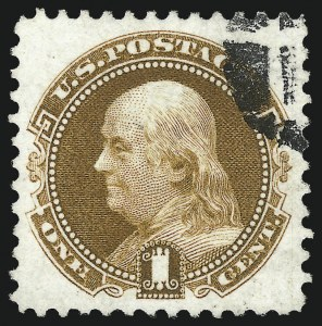 Sale Number 1061, Lot Number 3555, 1875 Re-Issue of 1869 Pictorial Issue (Scott 123-132)1c Buff, Re-Issue (123), 1c Buff, Re-Issue (123)