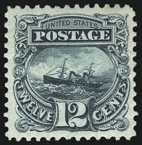 Sale Number 1061, Lot Number 3560, 1875 Re-Issue of 1869 Pictorial Issue (Scott 123-132)12c Green, Re-Issue (128), 12c Green, Re-Issue (128)