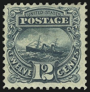 Sale Number 1061, Lot Number 3561, 1875 Re-Issue of 1869 Pictorial Issue (Scott 123-132)12c Green, Re-Issue (128), 12c Green, Re-Issue (128)