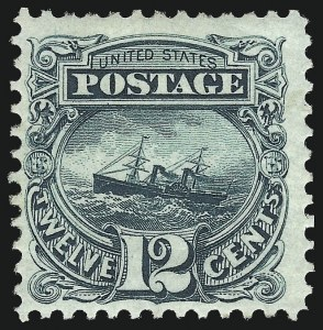 Sale Number 1061, Lot Number 3562, 1875 Re-Issue of 1869 Pictorial Issue (Scott 123-132)12c Green, Re-Issue (128), 12c Green, Re-Issue (128)