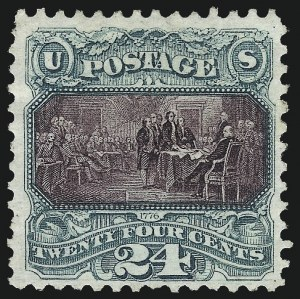 Sale Number 1061, Lot Number 3568, 1875 Re-Issue of 1869 Pictorial Issue (Scott 123-132)24c Green & Violet, Re-Issue (130), 24c Green & Violet, Re-Issue (130)