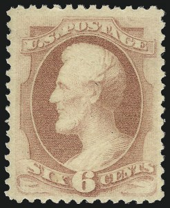 Sale Number 1061, Lot Number 3621, 1879-88 American Bank Note Co. Issue (Scott 182-218)6c Pink (186), 6c Pink (186)