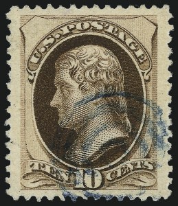 Sale Number 1061, Lot Number 3623, 1879-88 American Bank Note Co. Issue (Scott 182-218)10c Brown, With Secret Mark (188), 10c Brown, With Secret Mark (188)