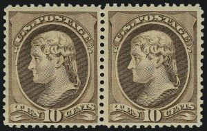 Sale Number 1061, Lot Number 3633, 1879-88 American Bank Note Co. Issue (Scott 182-218)10c Brown (209), 10c Brown (209)